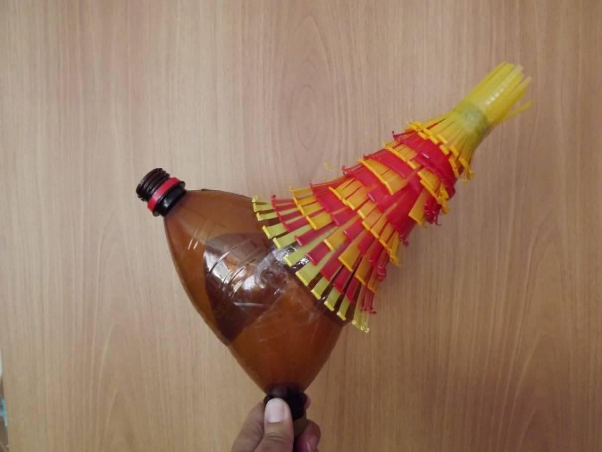Петух на бутылке своими руками