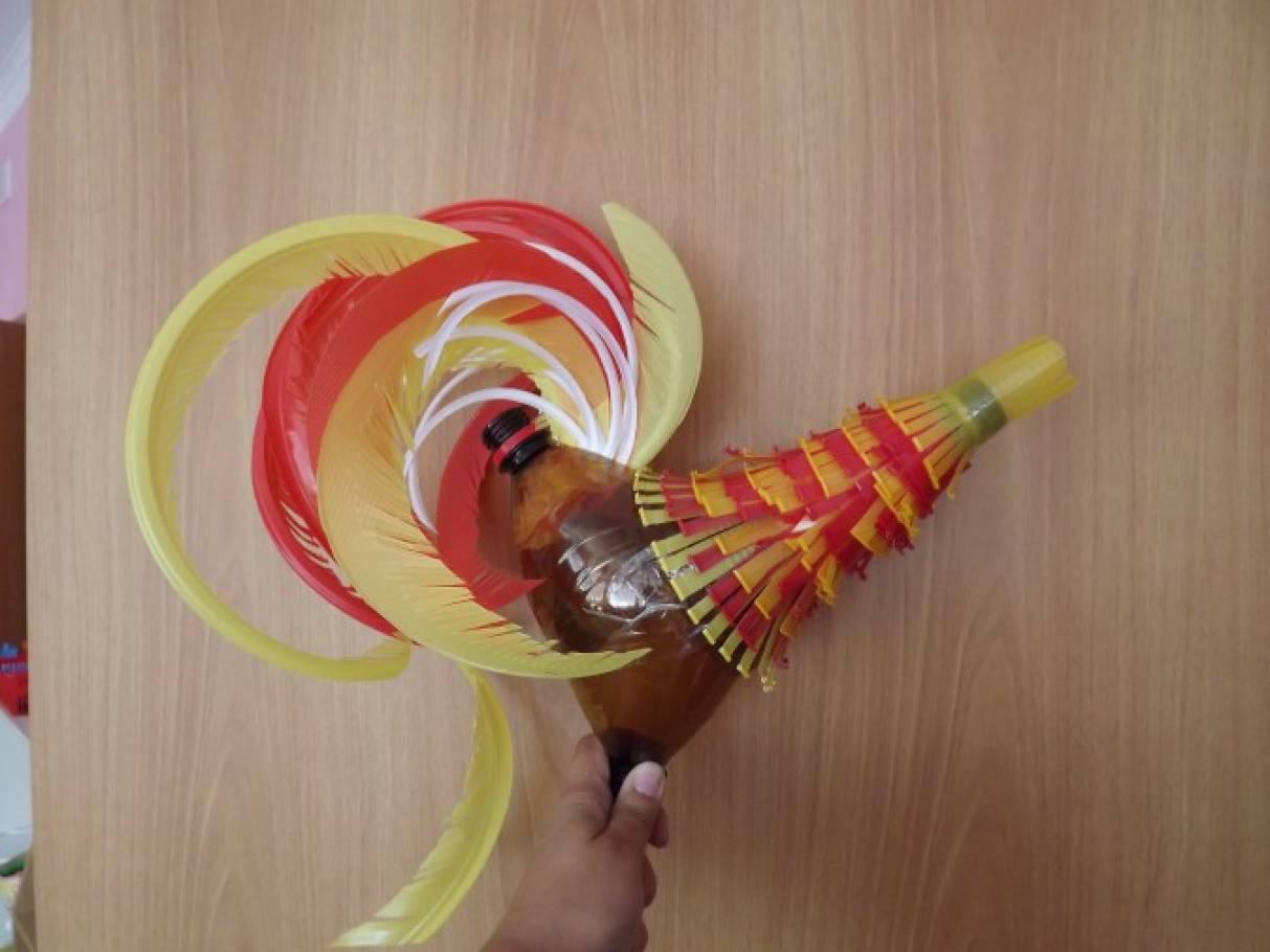 Как сделать петуха из ниток и шариков поэтапно