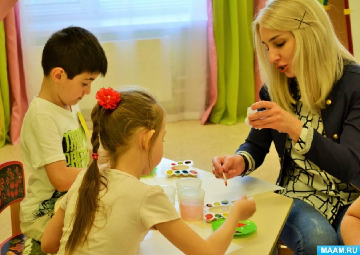 Мастер-класс для родителей по использованию нетрадиционных техник рисования в досуговой деятельности с детьми