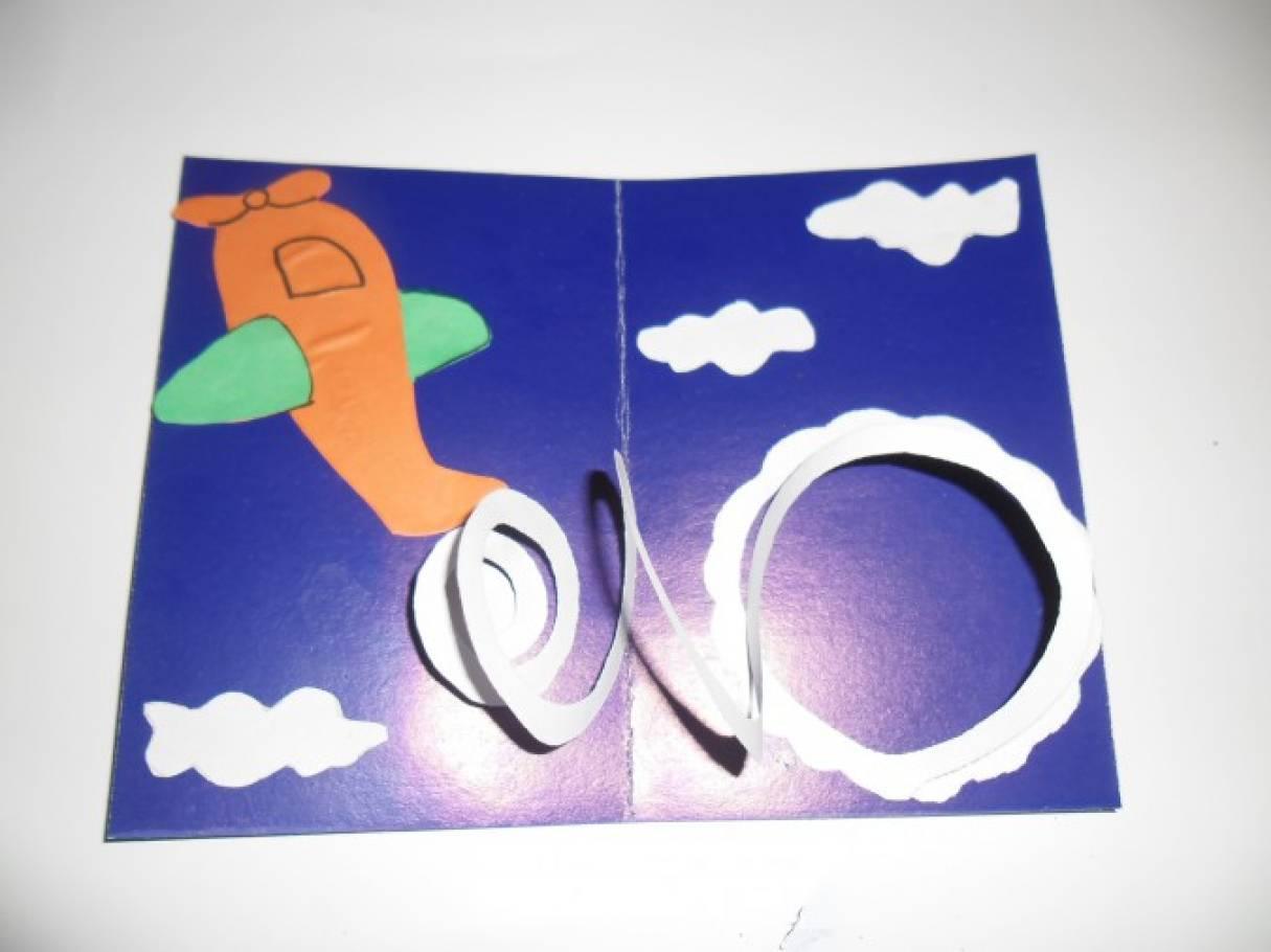 Аппликации из бумаги открытка на день рождения