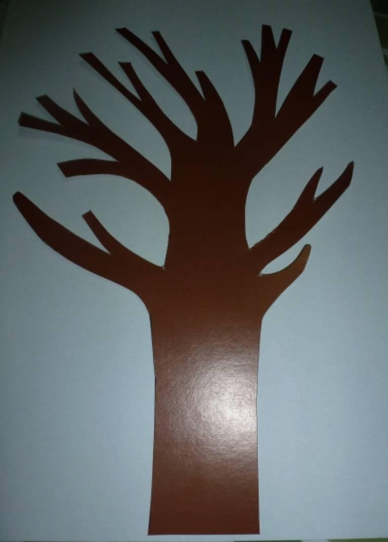 «Цветущее дерево»— объемная аппликация из бумаги