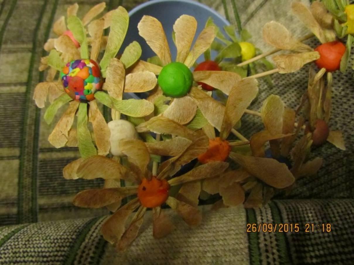 Букет в детский сад своими руками из природного материала 40