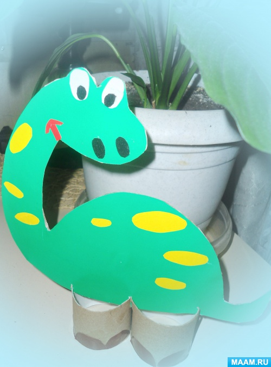 Мастер-класс «Динозаврик Сеня»