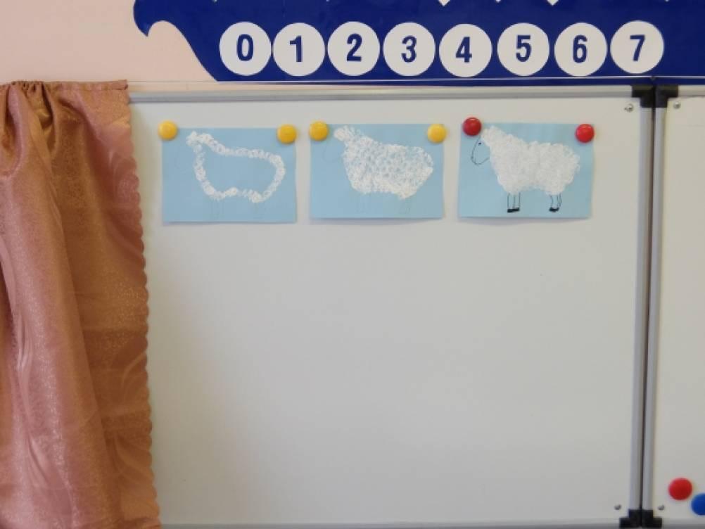 Конспект непосредственной образовательной деятельности для детей старшей группы с ЗПР «Кудрявые овечки»