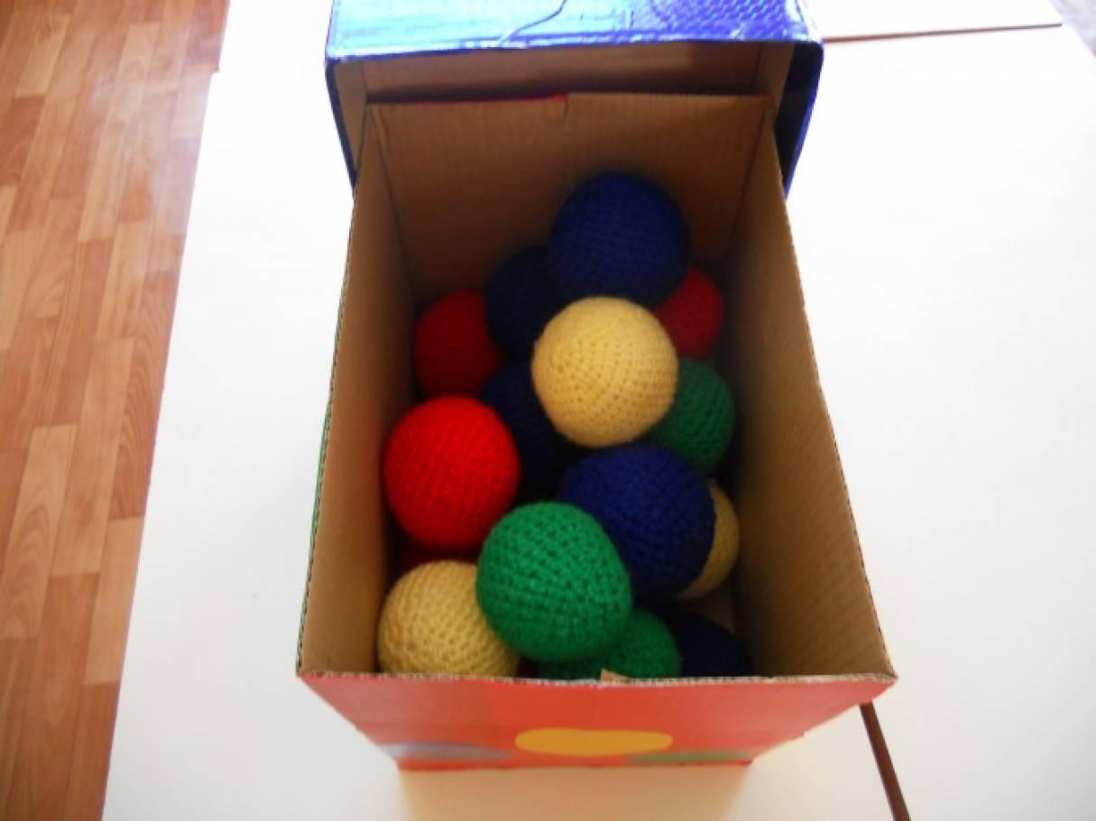 Дидактическое пособие «Разноцветные мячи»
