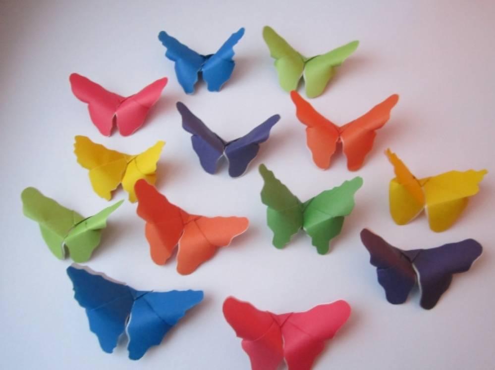 Мастер-класс по изготовлению бабочек методом оригами