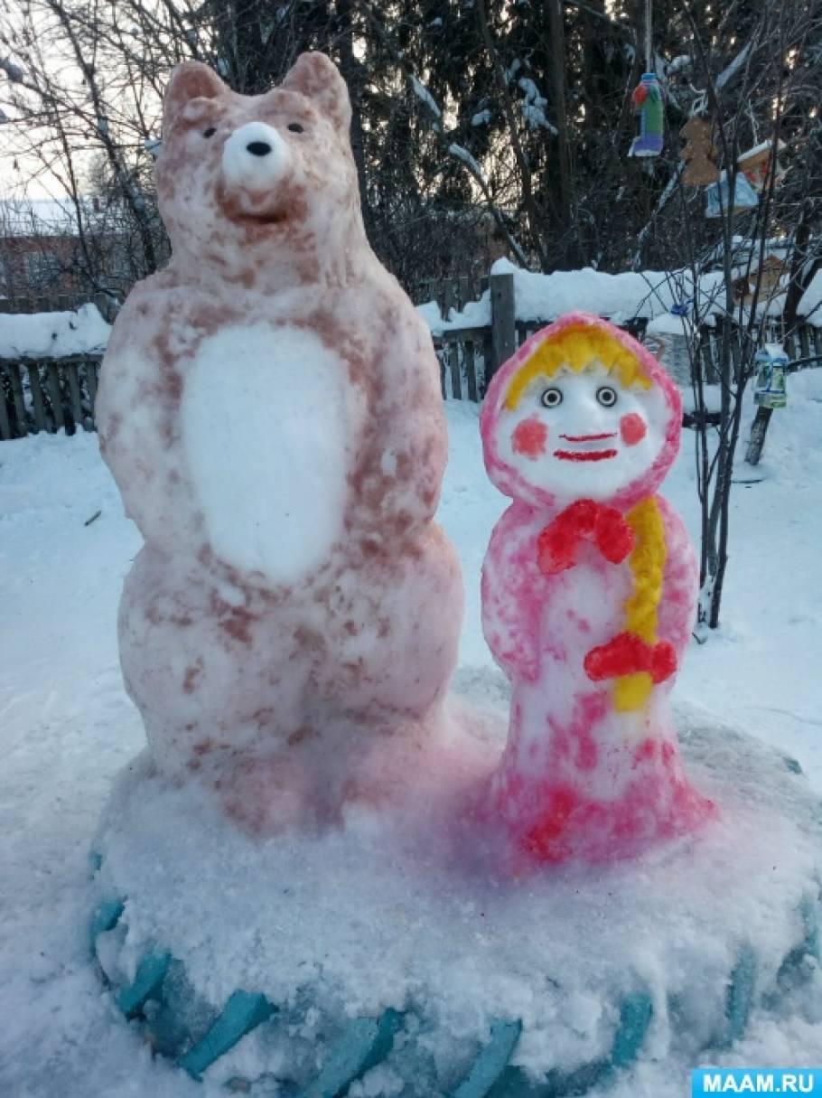 Фотоотчет «Оформление участков зимой и летом»