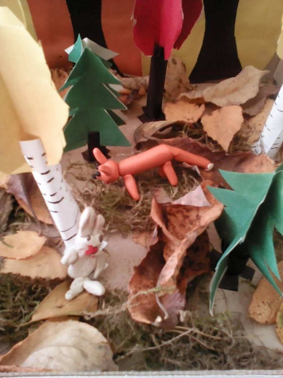 Макет осенний лес своими руками