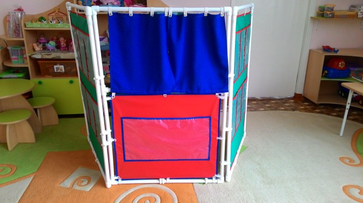 Ширма из пластиковых труб для детского сада своими руками фото пошагово 11