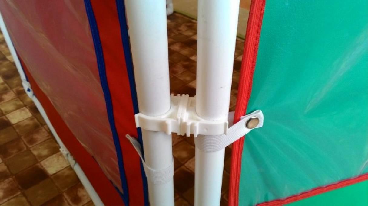 Ширма из пластиковых труб для детского сада своими руками 39