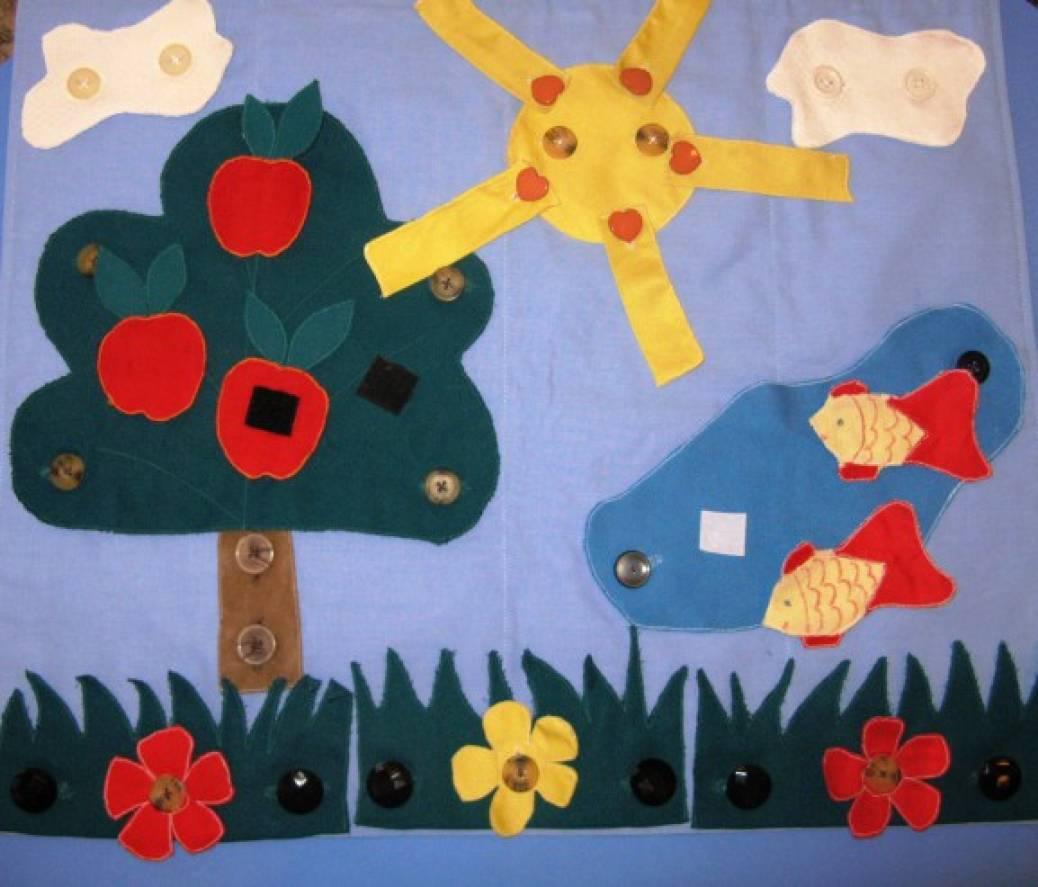 знакомство с цветами и предметами