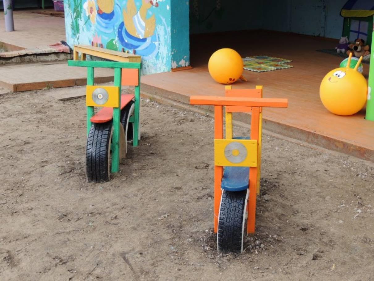 Мотоцикл для детского сада своими руками 47