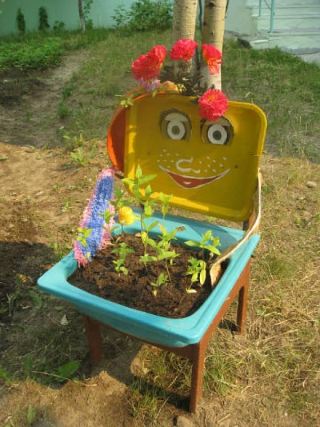 Украсить участок детского сада своими руками фото