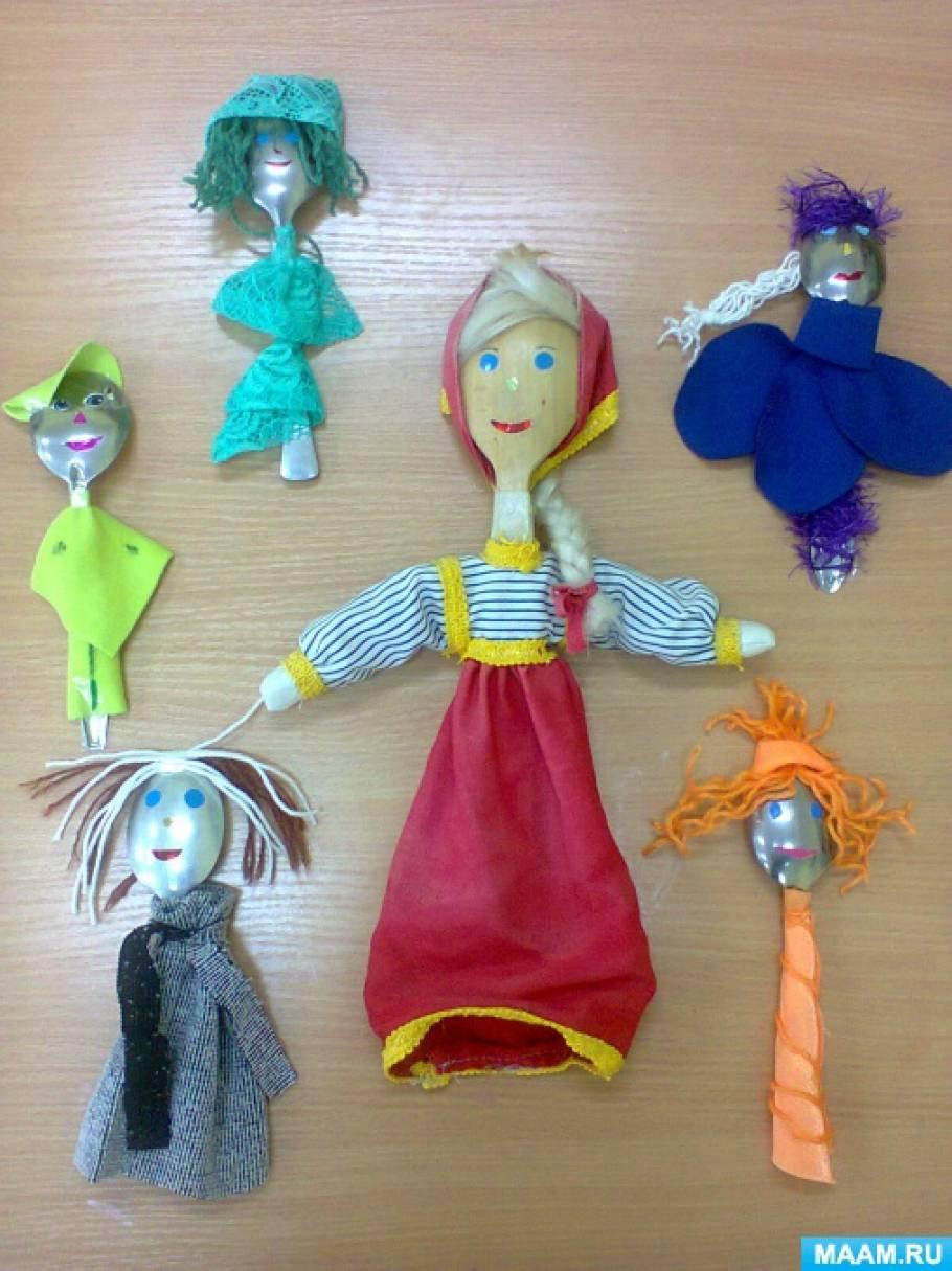 кукла на ложке своими руками мастер класс