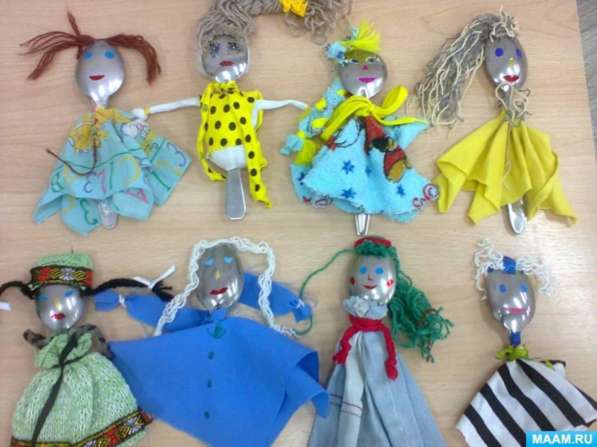 Куклы из ложки своими руками 16