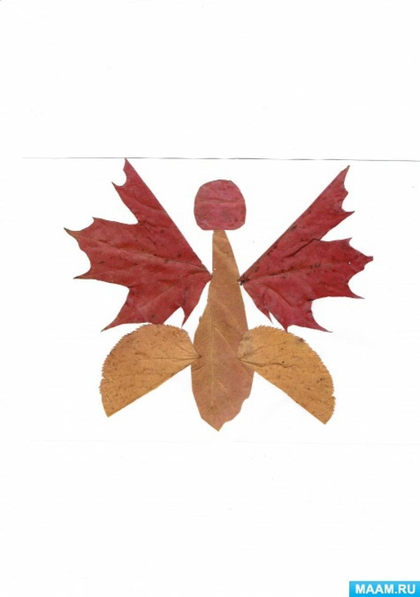 Аппликация из природного материала «Бабочка»