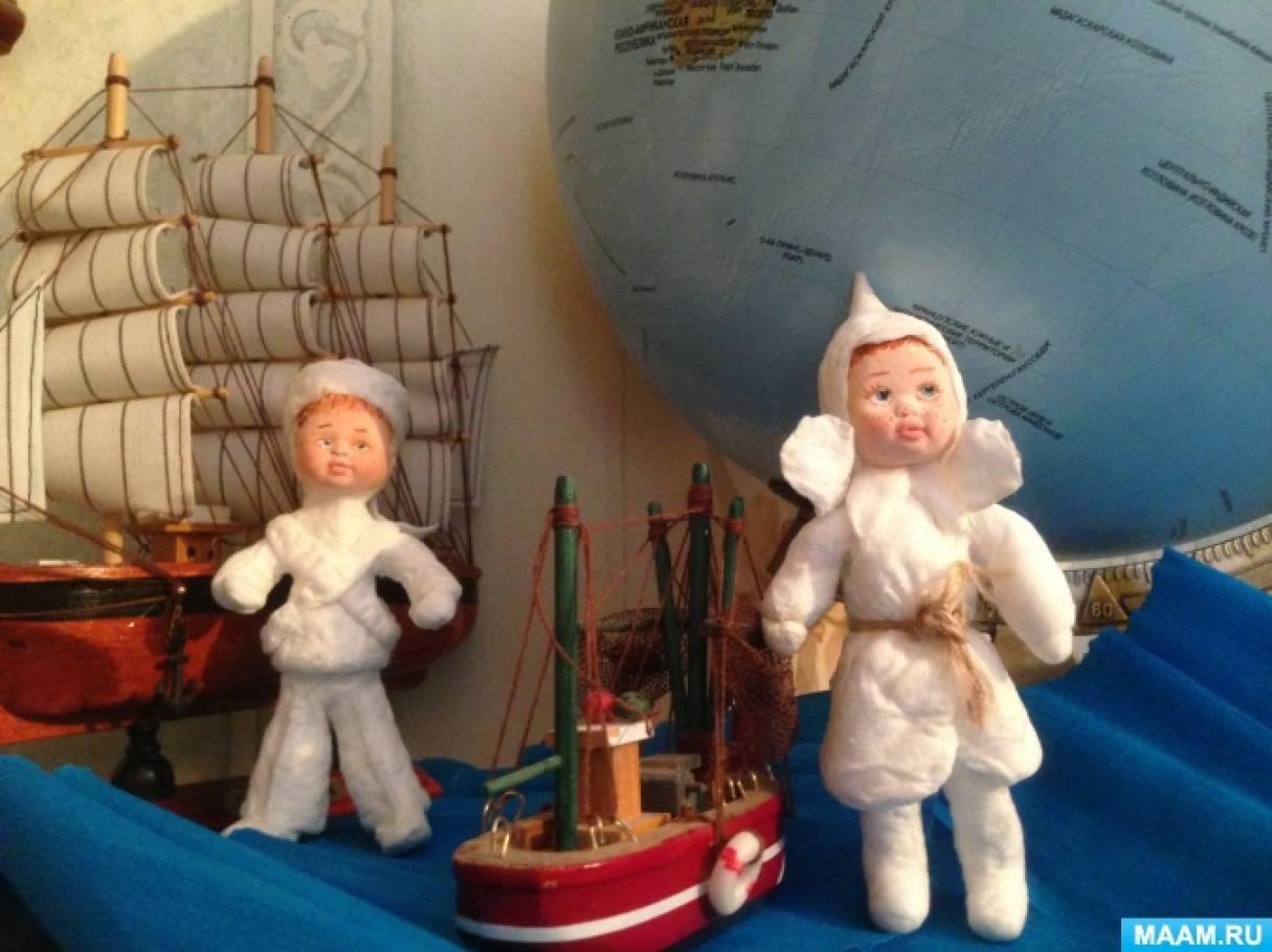 Фотоотчет. Игрушки из ваты буденовец и морячок