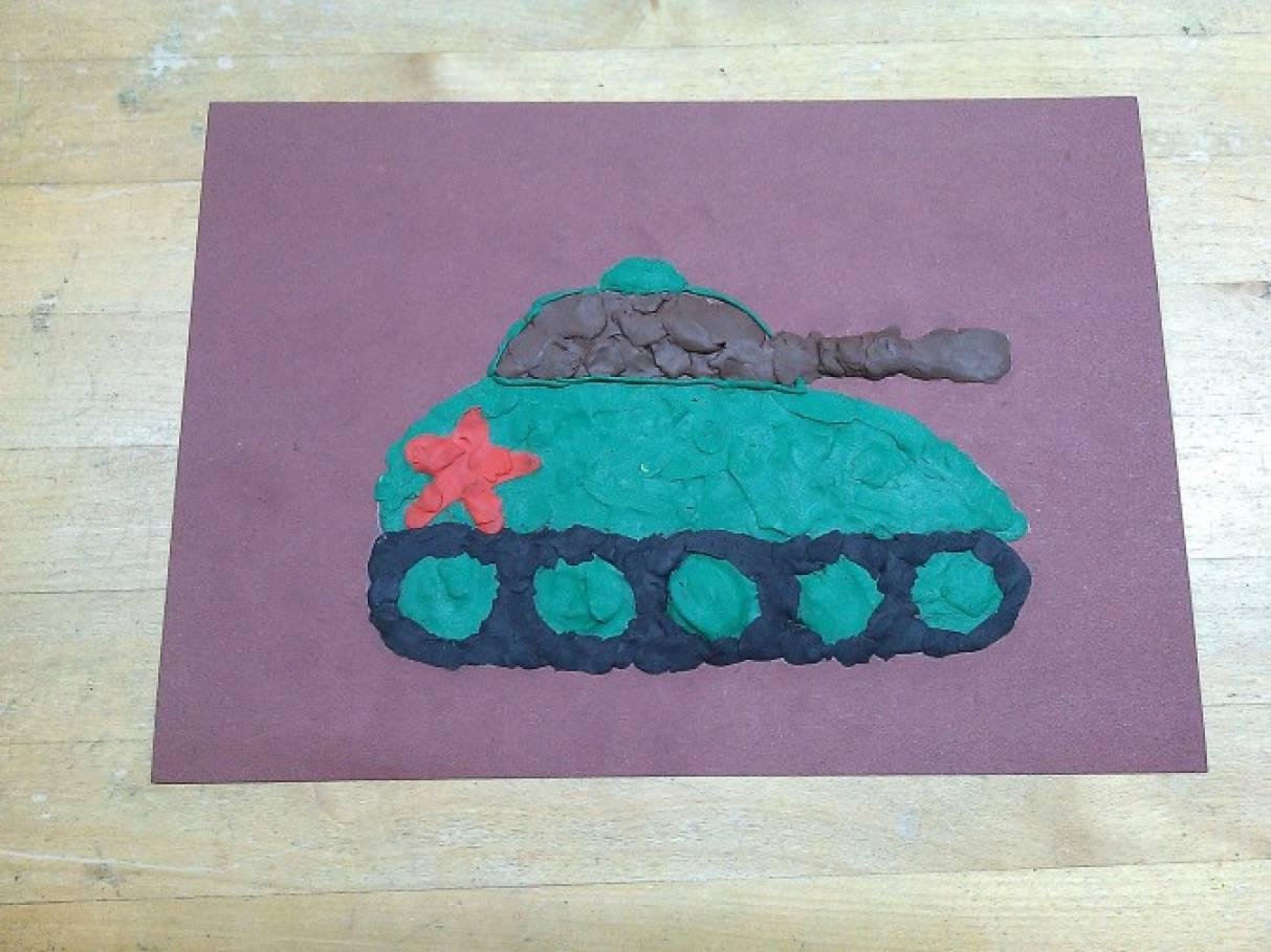 Инструкция как сделать открытку танк технология 2 класс, день