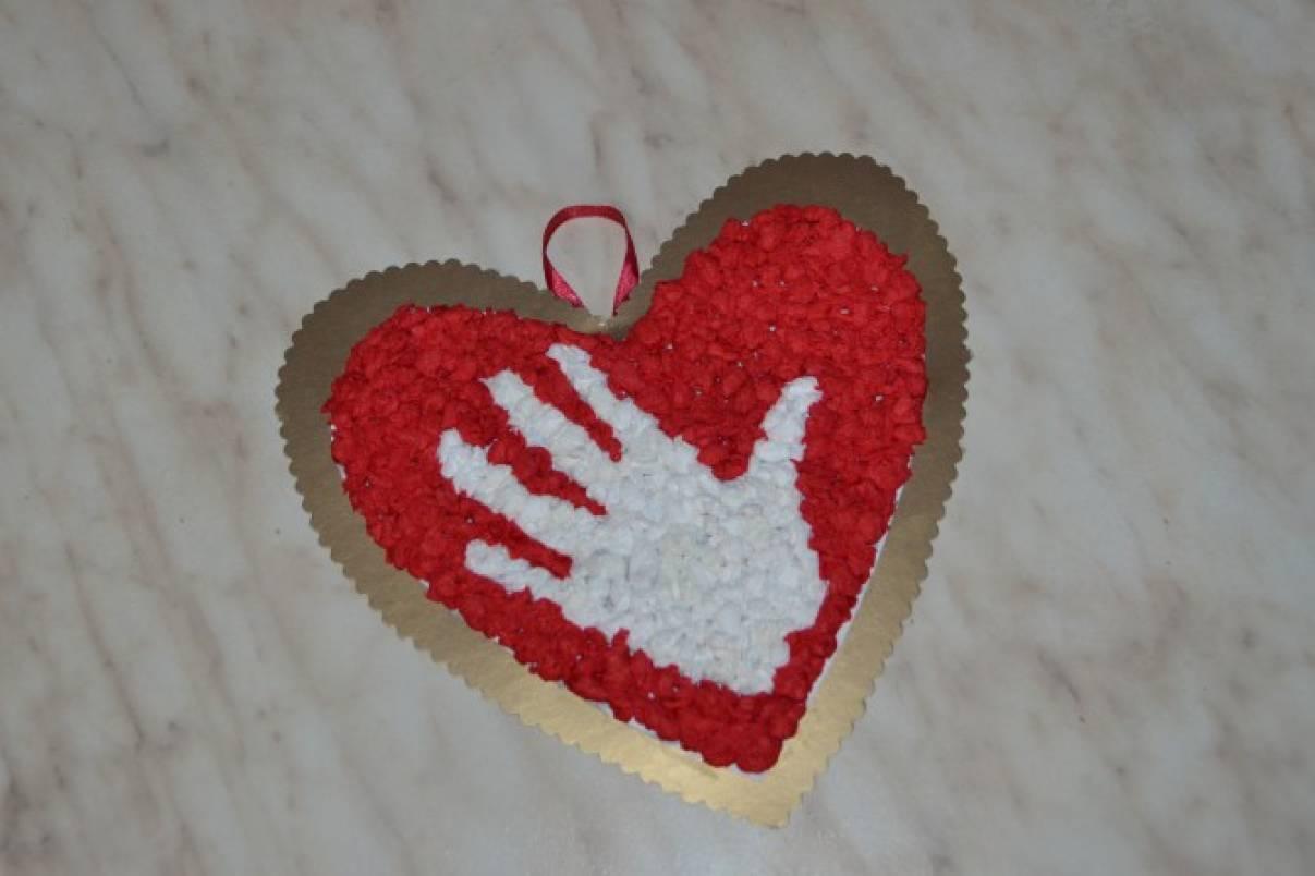 Мастер-класс открытки из салфеток «Сердце для мамы»