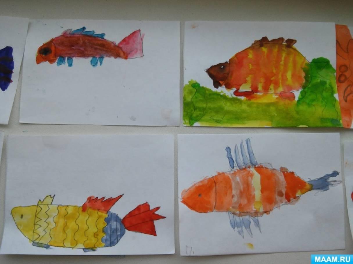 рисование рыбки в средней группе картинки изменили скандинавы