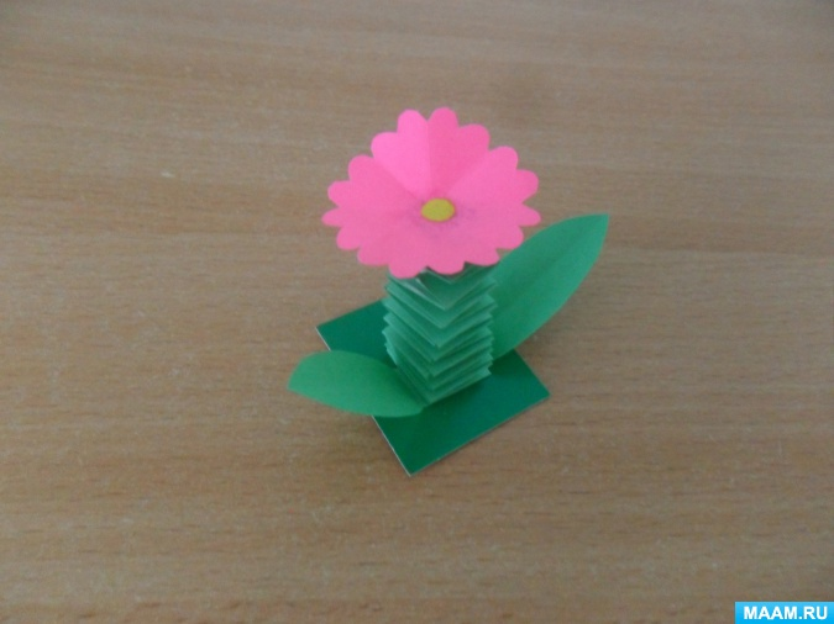 Мастер-класс «Цветок на стебельке-пружинке»