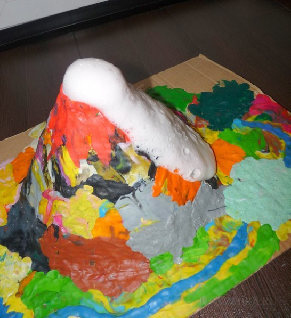 Опыты как сделать вулкан