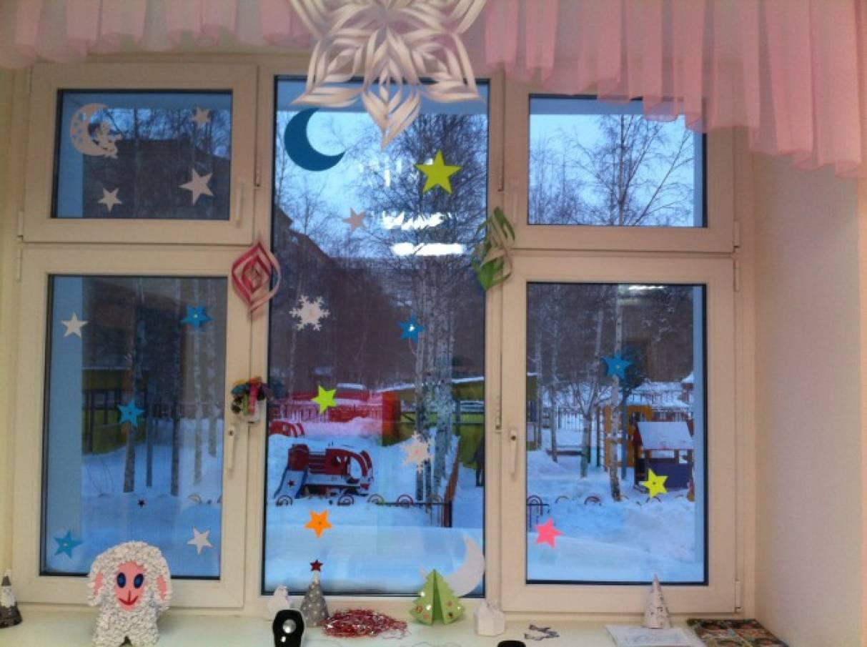 Украшения на новый год группы в детском саду с фото