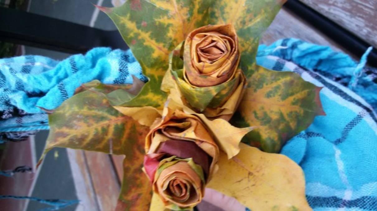 Красивые букеты из кленовых листьев — img 1