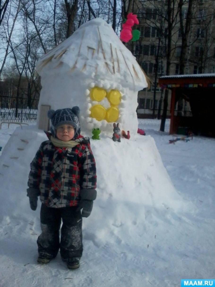 Интересные постройки из снега