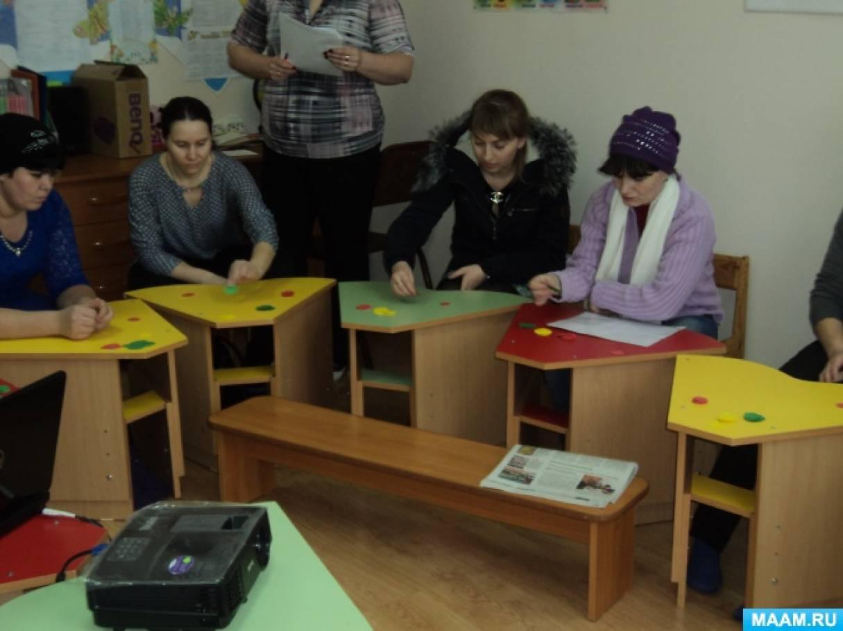 Конспект родительского собрания в форме деловой игры с родителями «Витаминиада»