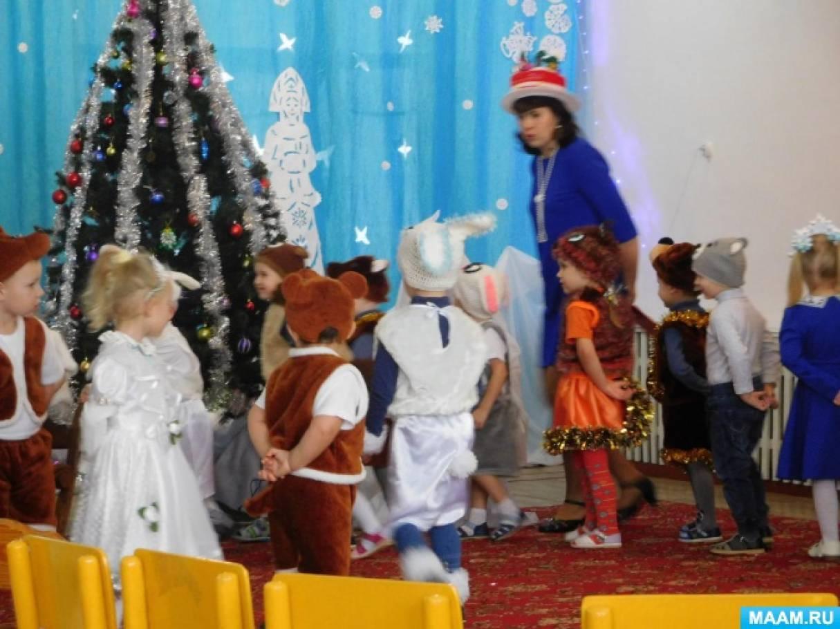 Сценарий новогоднего утренника во второй младшей группе «Как снеговик нос искал»