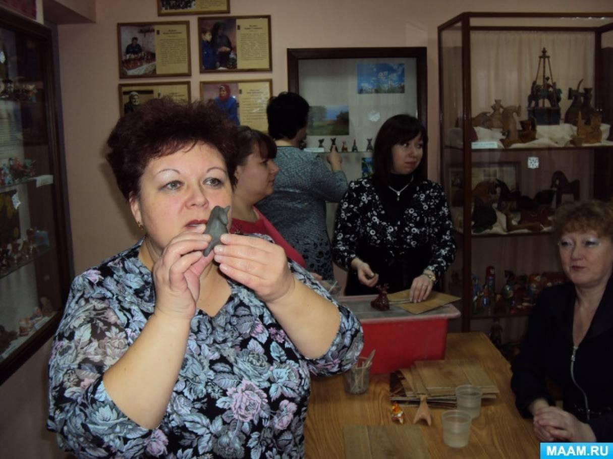 Сценарий детско-родительского досуга в подготовительной группе «Городецкая глиняная игрушка»
