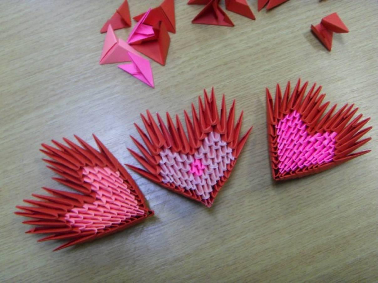 Датой, открытки из модульного оригами