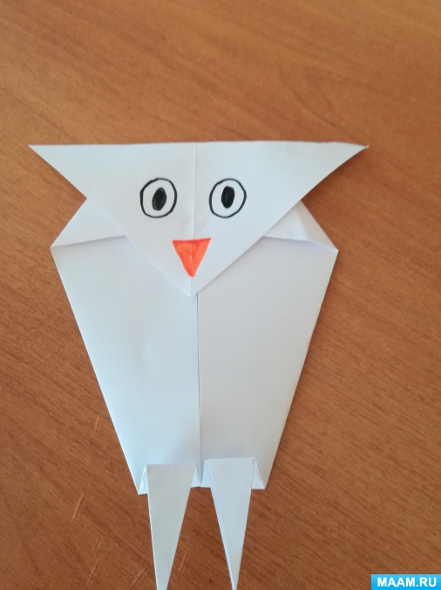Мастер-класс «Сова» в технике «оригами»