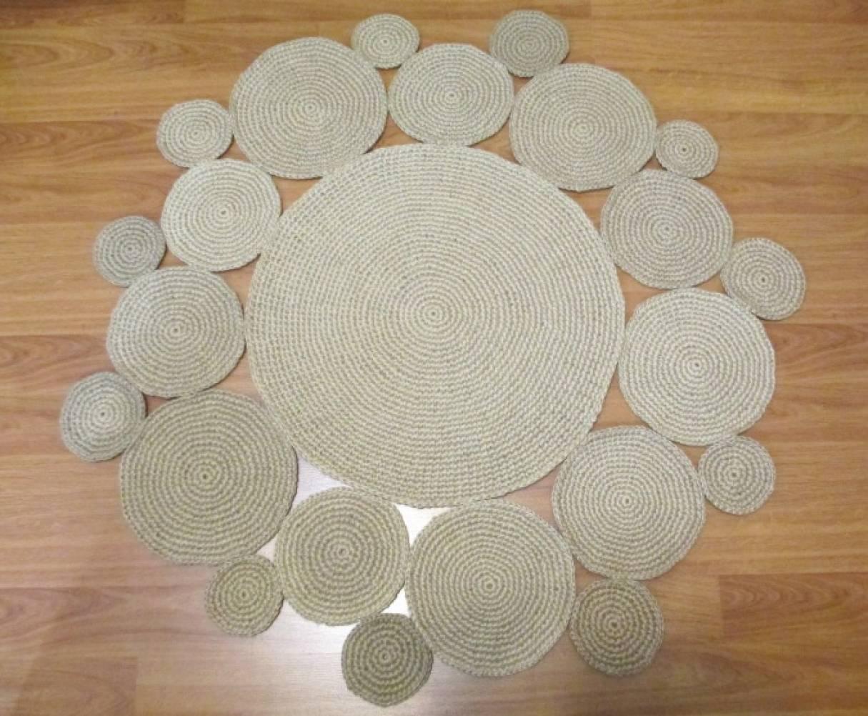 Вязание крючком коврики из кругов 23