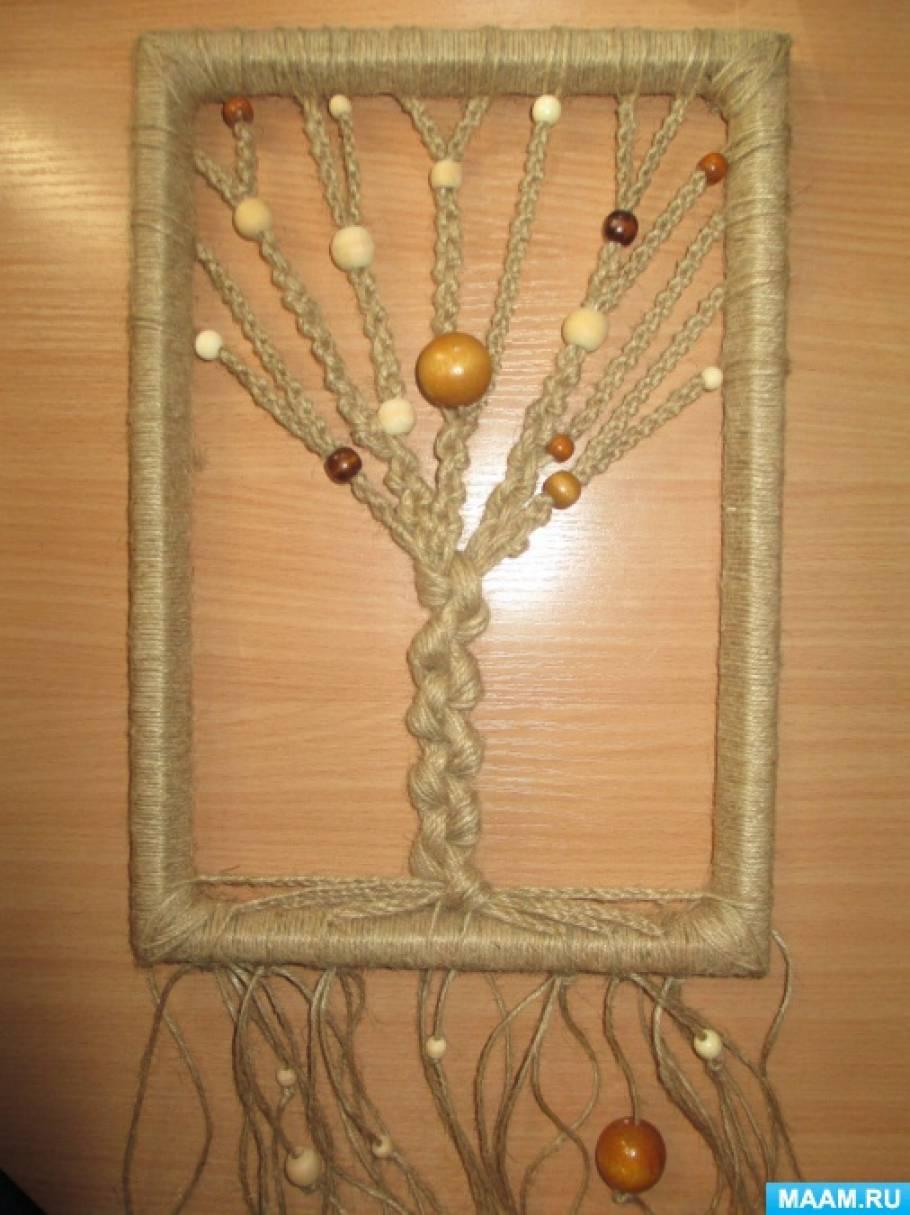 Дерево из шпагата мастер класс