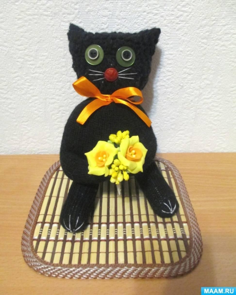 Весенний котик Василий из перчатки. Мастер-класс
