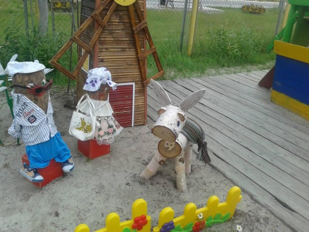 Поделки из брёвен в детском саду 29