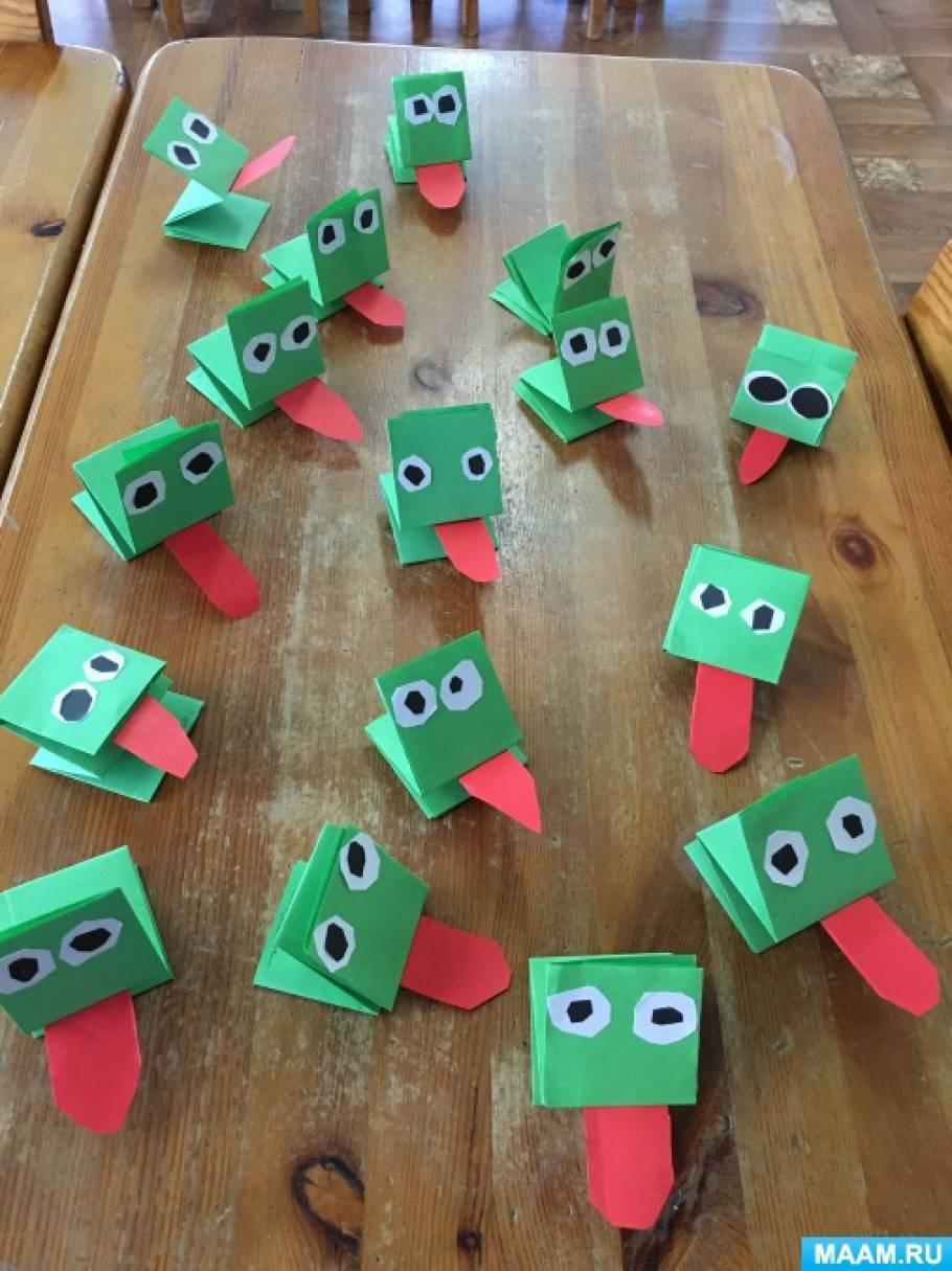 НОД по познавательному развитию детей с интеграцией образовательных областей «Оригами «Лягушка» в подготовительной группе