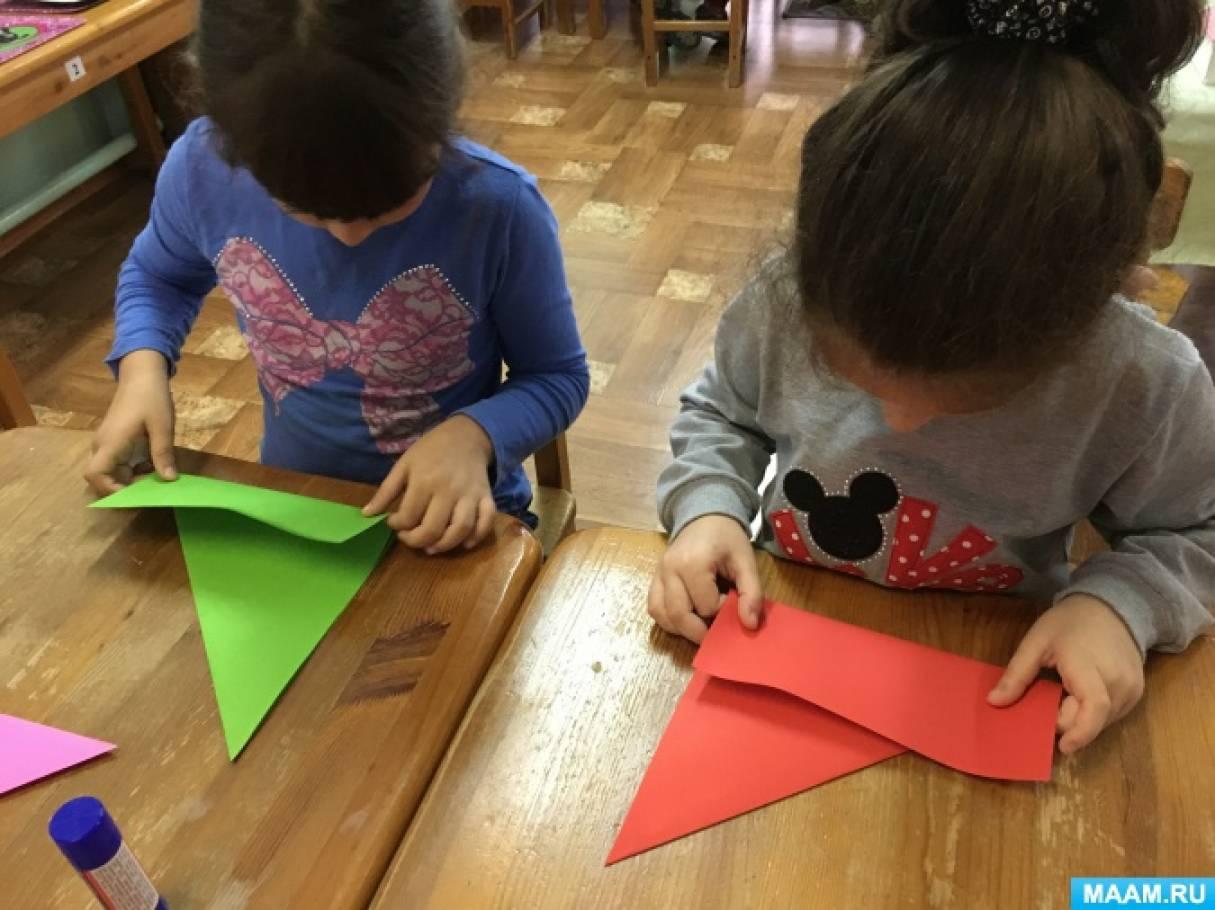 Оригами в группах развития детей