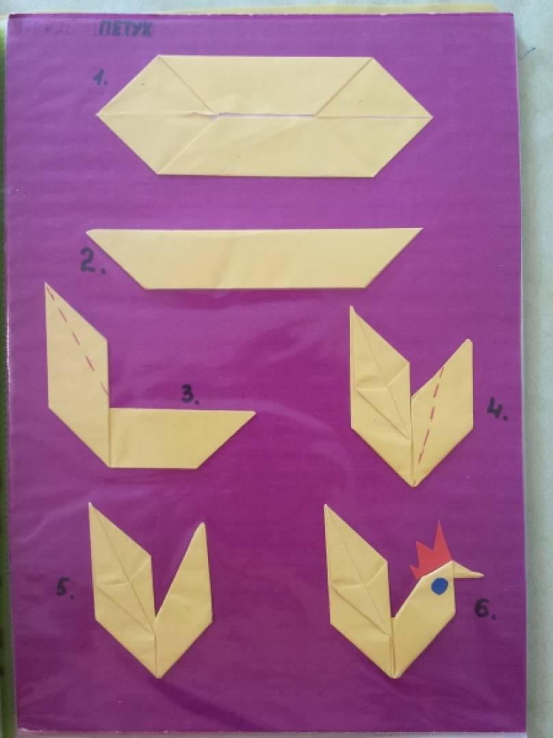 Оригами птиц для детей 5 лет