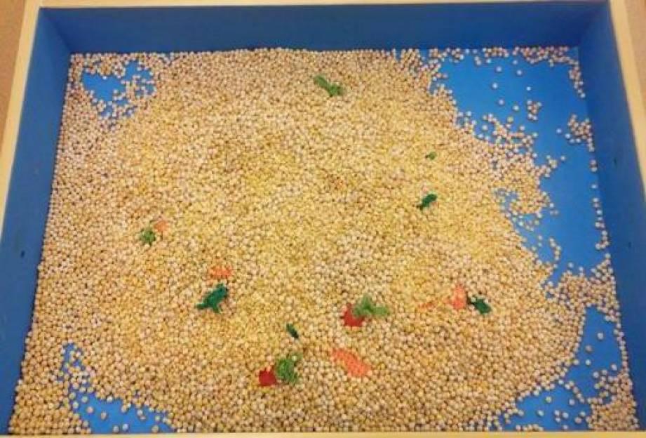Конспект занятия по рисованию цветной солью «Урожай собираем, деду с бабой помогаем!» (ранний возраст)