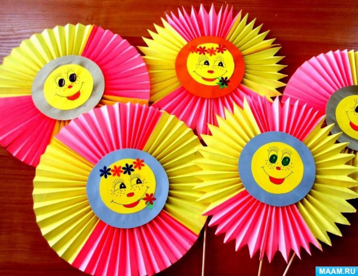 Солнышко своими руками для детского сада из бумаги 69
