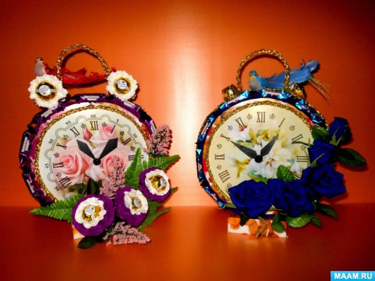 Креативные подарки своими руками «Сладкие и вкусные часы». Свит-дизайн