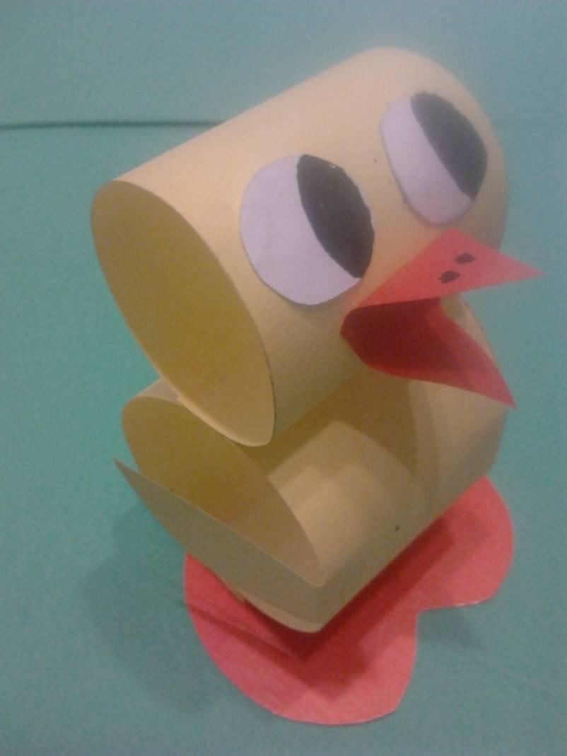 Мастер-класс «Цыпленок из бумаги».