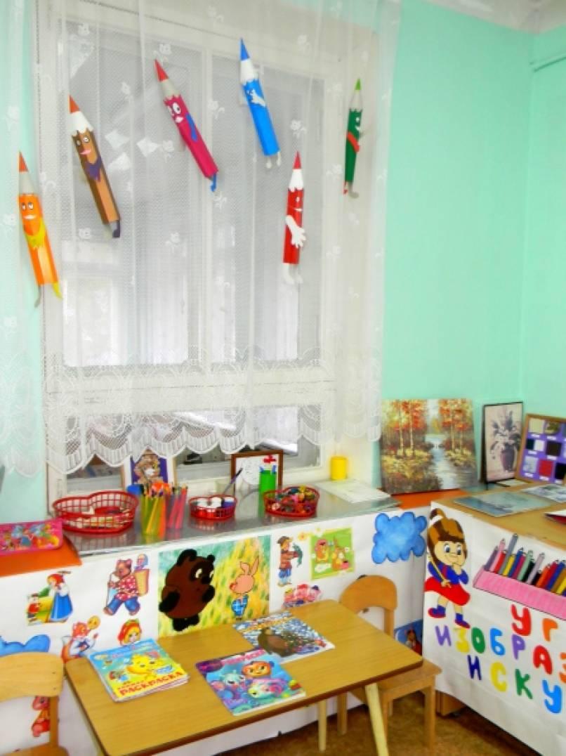 Оформление изо уголка в детском саду  фото по фгос 179