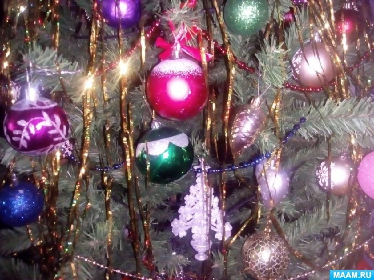 Детское творчество «Новогодняя гирлянда» (фотоотчёт)