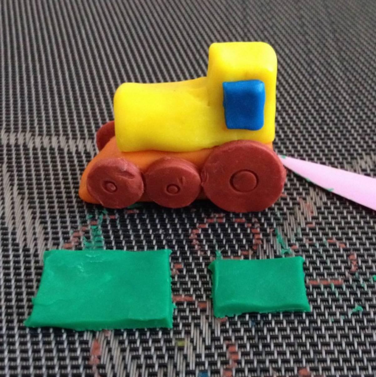 Поделки из пластилина паровозик 84