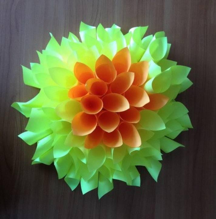 Цветы из бумаги своими руками пышные