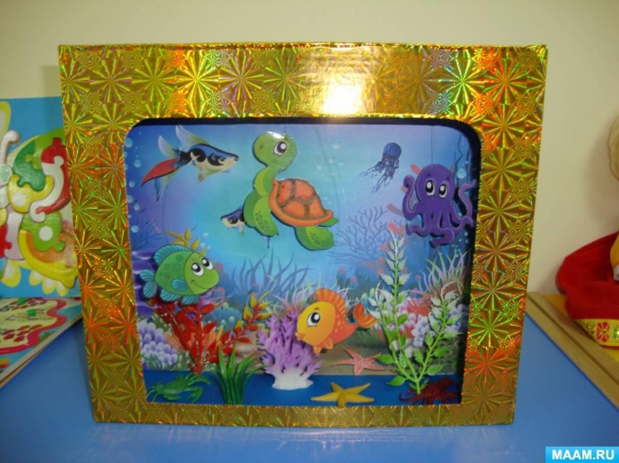 хороший недорогой поделка аквариум с рыбками из коробки начинающих